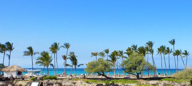 ハワイ島のアナエホオマル・ベイ・ビーチ